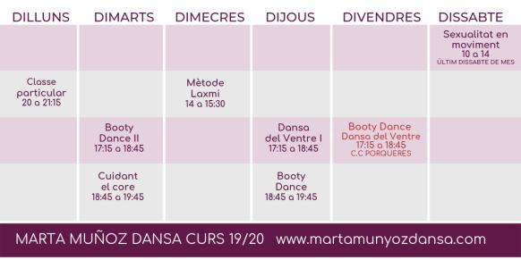 HORARIS MARTA MUNYOZ DANSA 3